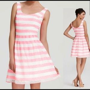 Lilly Pulitzer Posey Dress- Pink and White Stripes